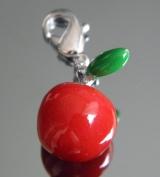 Подвеска яблоко на браслет #02835