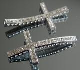 Коннектор для браслета Крест со стразами #02839