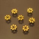 Бусна разделитель Дейзи Античное золото 4мм 50 штук #01247