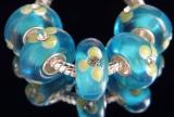 Бусина Пандора( Pandora Style) Lampwork со стразами  #02862