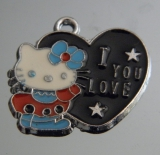 Подвеска Кити с сердечком #02888