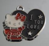 Подвеска Кити с сердечком #02888/2
