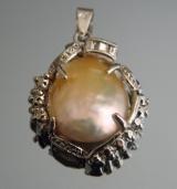 Кулон с жемчужиной #00420