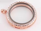 Медальон стеклянный с наполнением  #02938