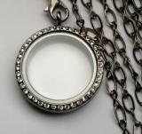 Медальон открывающийся стеклянный  #02946