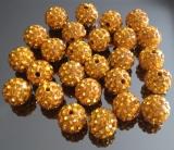 Бусина Шамбала Золотая 10мм  #02990