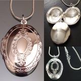 Кулон серебряный для фотографии Маленький #03001