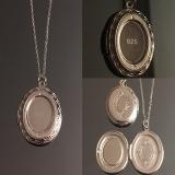 Кулон серебряный для фотографии  #03005